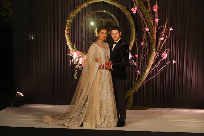 Priyanka dazzled in her wedding dress