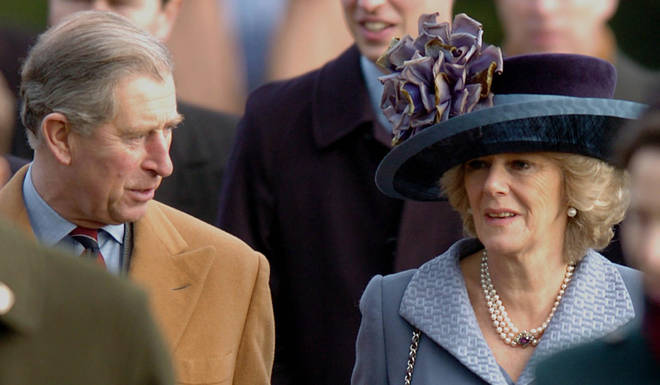 Prince Charles and Camilla, Duchess of Cornwall at Sandringham