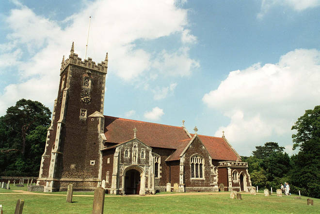 St Mary Magdelene Church in Sandrigham where the Royals attend Christmas every year