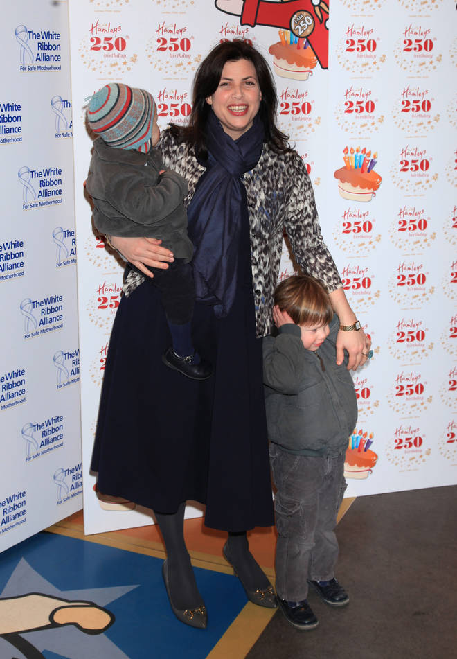 Kirstie pictured with her children at an event in 2010