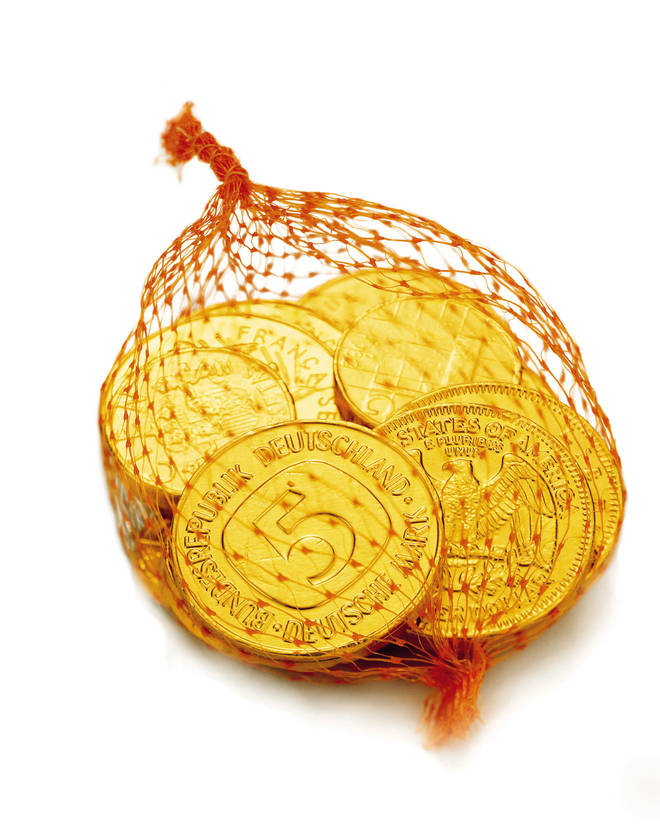 Chocolate coins are a British stocking staple