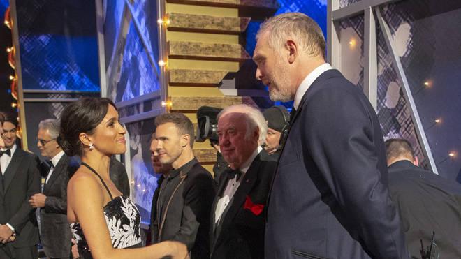 Royal Variety host Greg Davies meets Meghan Markle