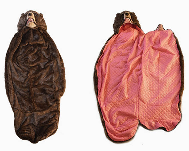 A Japanese artist has created this life-life Bear sleeping bag