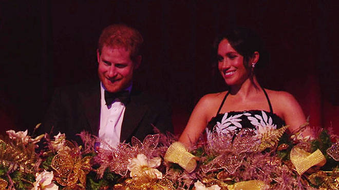 Meghan Markle looked a little confused by some of the jokes