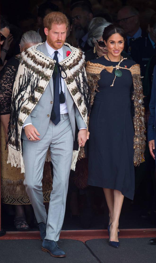 Meghan and Harry wore traditional Maori cloaks in Te Papaiouru, Ohinemutu, in Rotorua