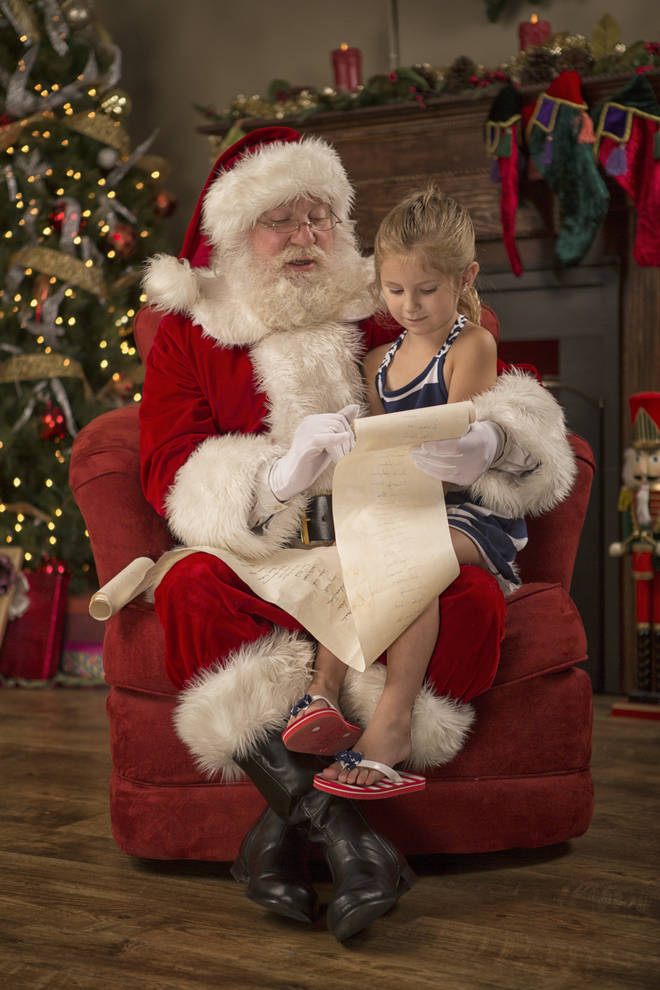 A visibly upset child shouldn't be made to sit on Santa's lap, experts warn