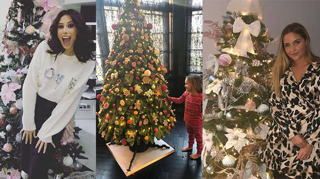 Celebs have been sharing their Christmas trees over on Instagram