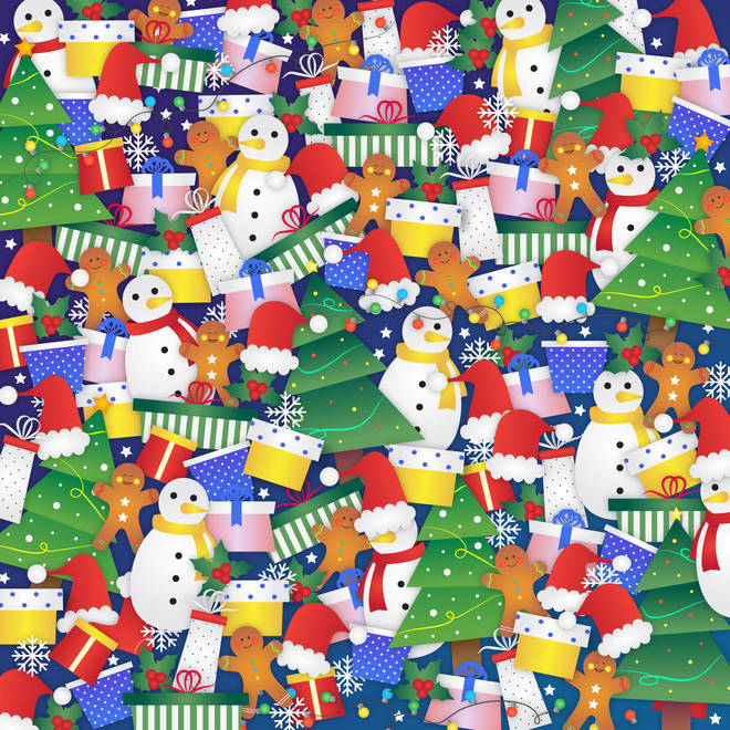 Can you spot the stocking in this Christmas picture?