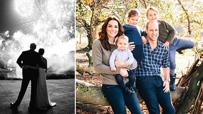 The royal family have realised images for their 2018 Christmas cards