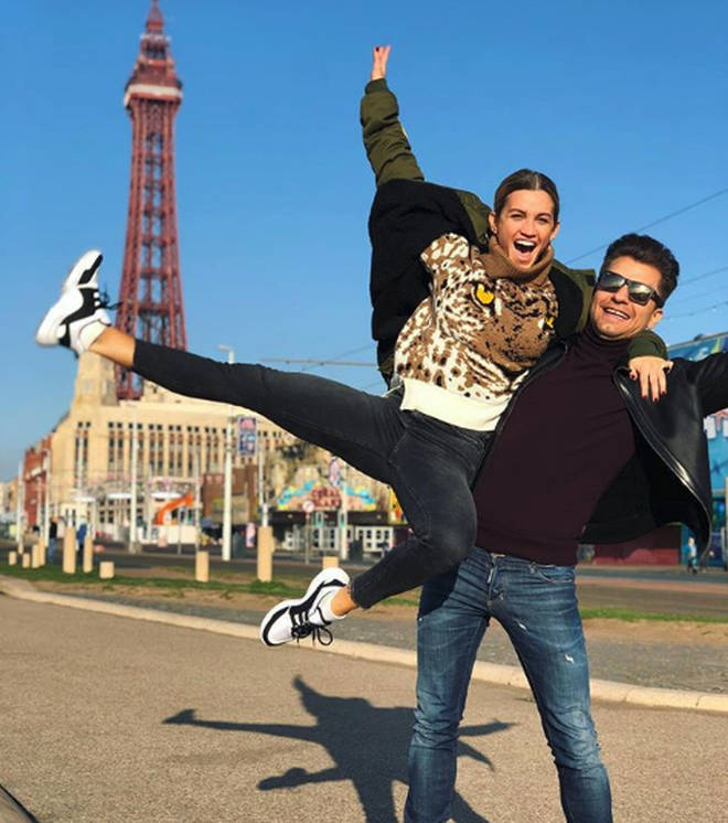 Ashley Roberts and Pahsa Kovalev pictured in Blackpool
