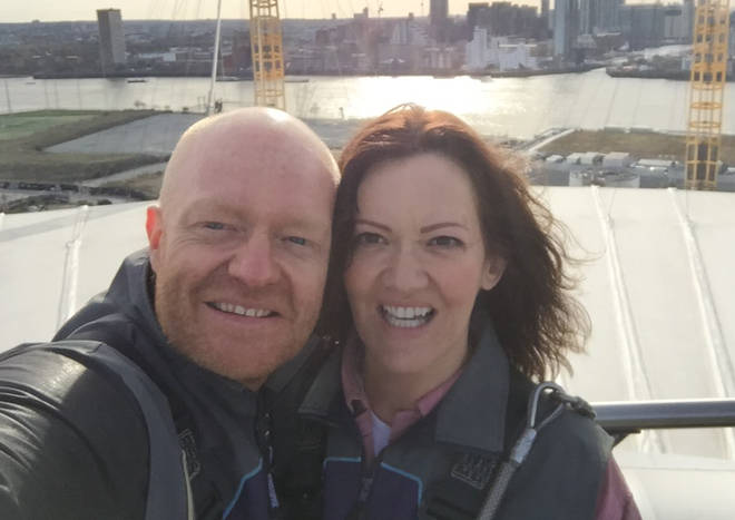 Jake Wood with wife Alison
