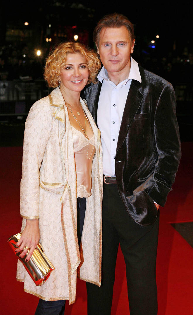Liam Neeson and his wife Natasha Richardson before her tragic accident