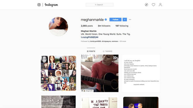 Meghan Markle's official Instagram was temporarily reactivated