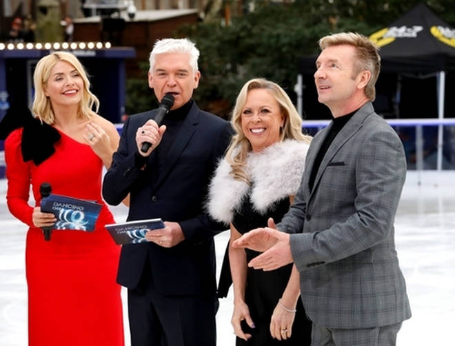 Holly and Phil at the Dancing On Ice launch with Jayne Torvill and Christopher Dean