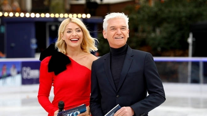 Holly Willoughby and Phillip Schofield at the Natural History Museum for the Dancing On Ice launch