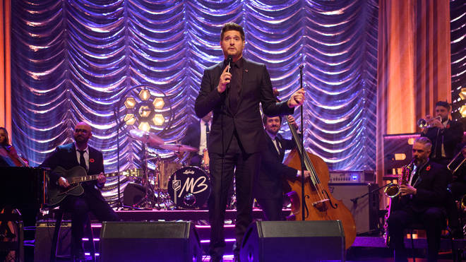 Michael Buble performing at the Graham Norton show