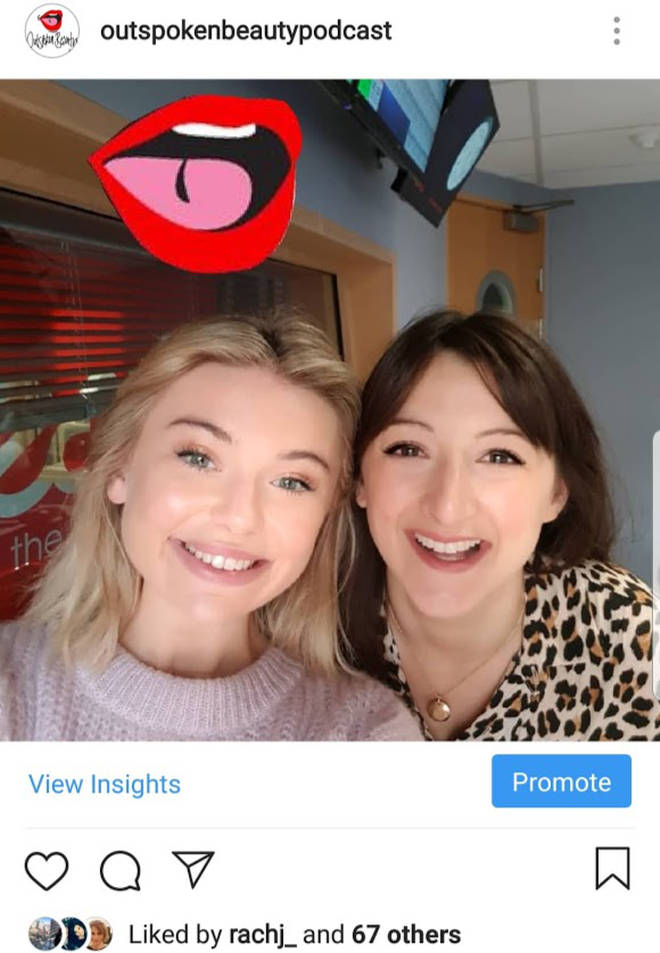 Toff showed her acne to the world in 2018