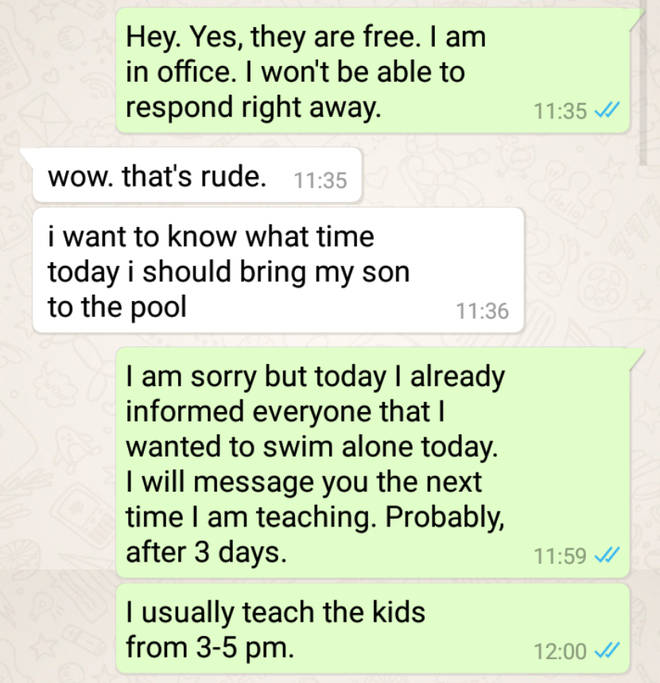 Mum's tense exchange with swim instructor goes viral and