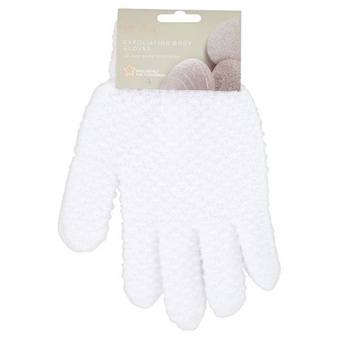 Exfoliating gloves do the job and are affordable