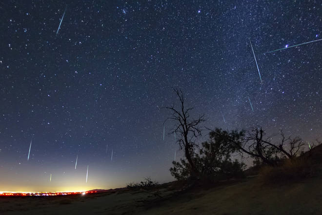 A meteor shower will be visible if the skies are clear