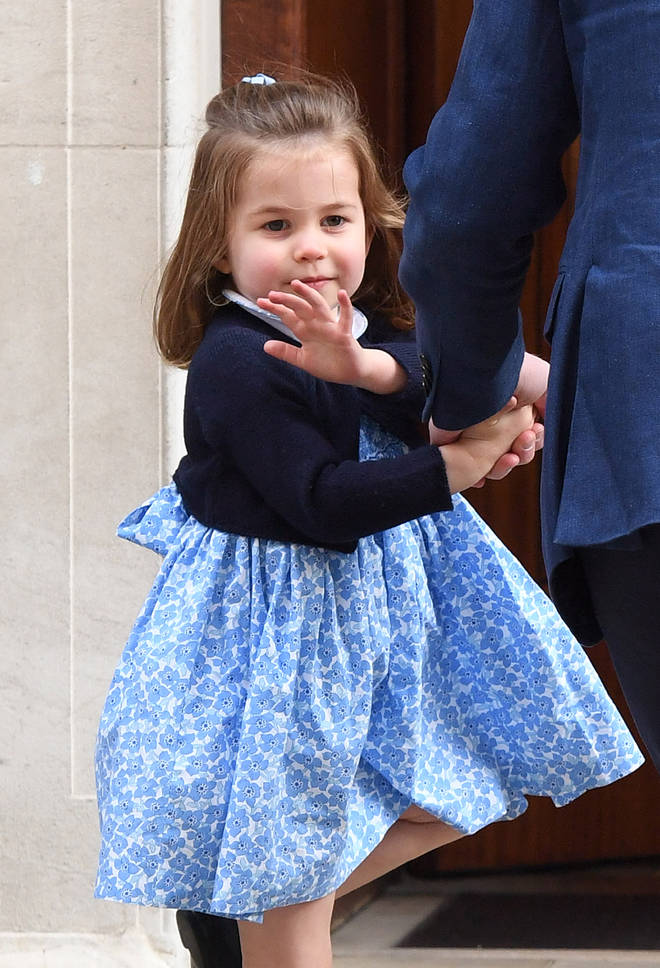 Princess Charlotte apparently sat on the floor during the family day out