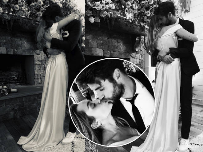 Miley Cyrus has given fans a glimpse into her wedding to Liam Hemsworth