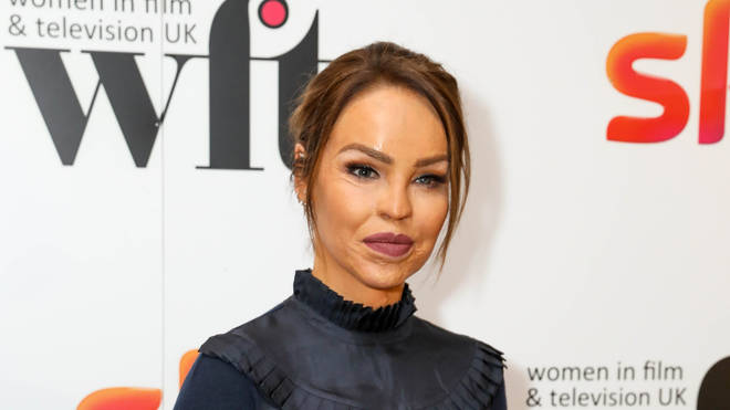 Katie Piper strikes a pose on the red carpet