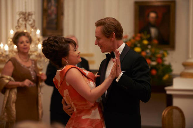 Helena Bonham Carter and Ben Daniels as Princess Margaret and Lord Snowdon in The Crown