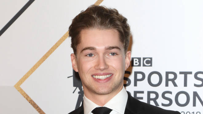 AJ Pritchard on the red carpet at the BBC Sports Personality