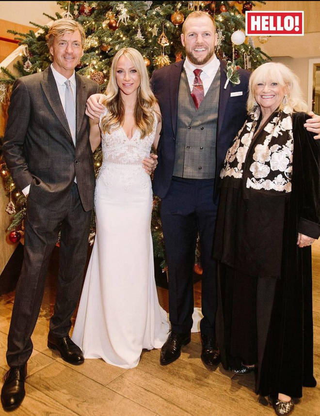 Chloe Madeley and James Haskell on their wedding day