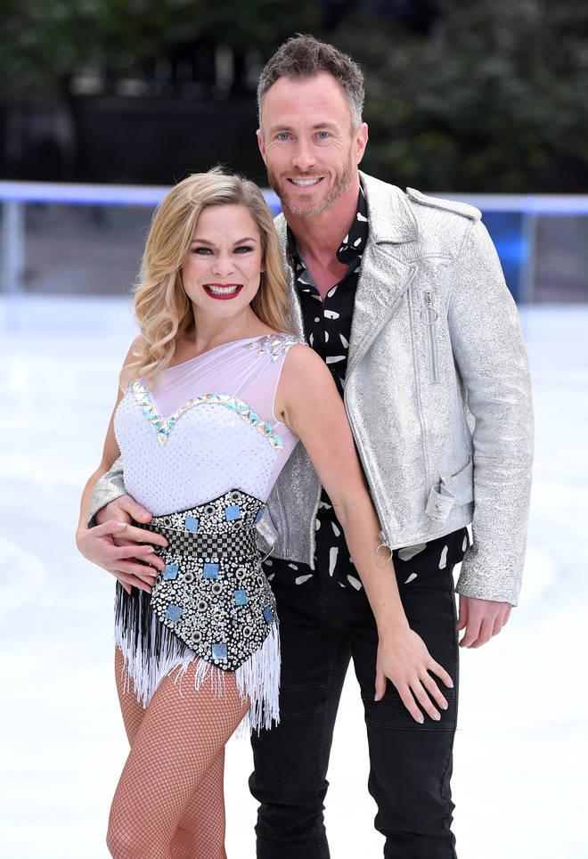James Jordan and Dancing On Ice professional Alexandra Schauman