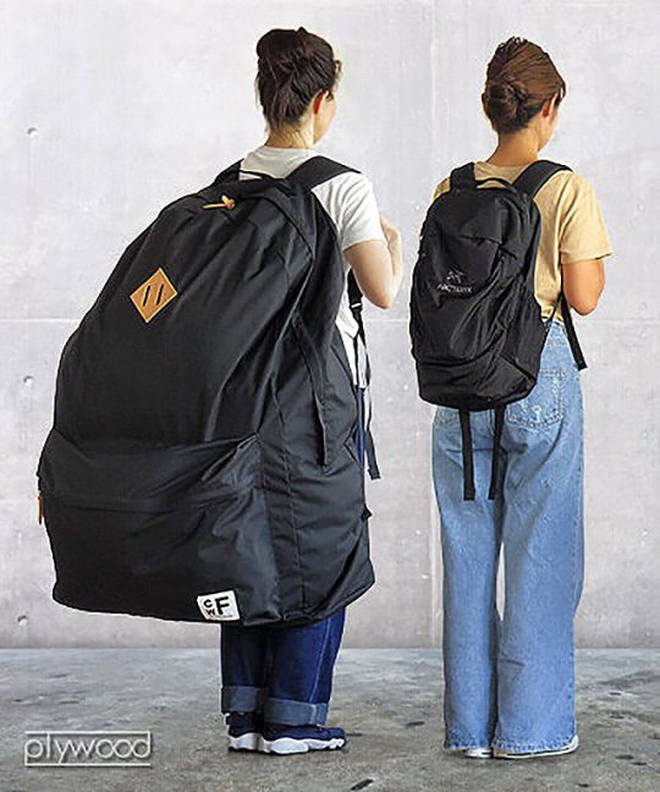 The backpacks are available to buy from a Japanese online retailer