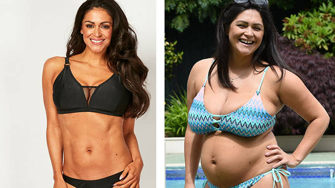 Casey Batchelor now (left), compared with last summer