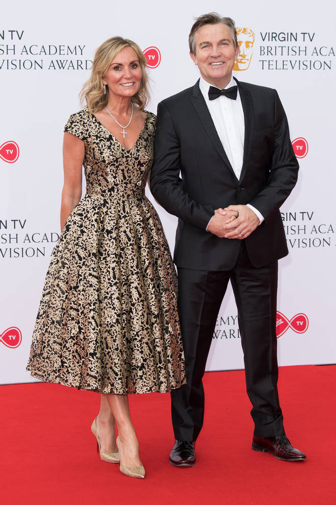 Bradley Walsh proudly walks the red carpet wit his wife Donna