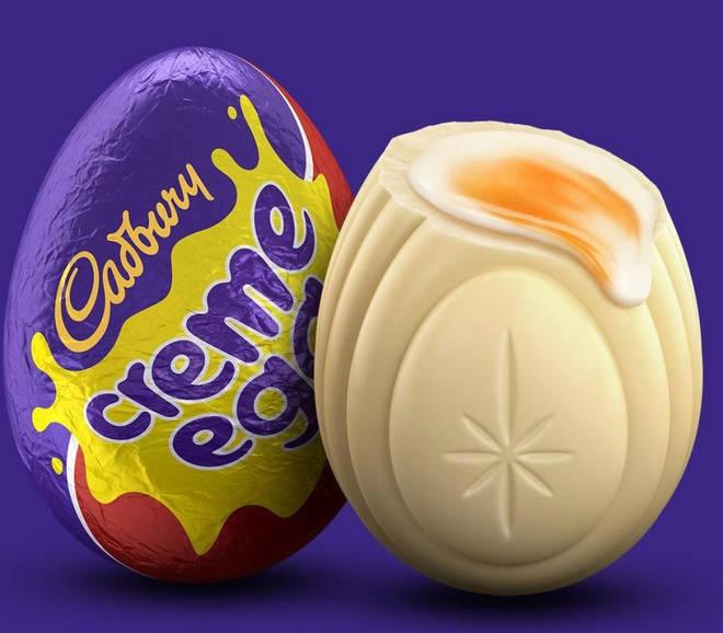 Cadbury's white Creme Egg
