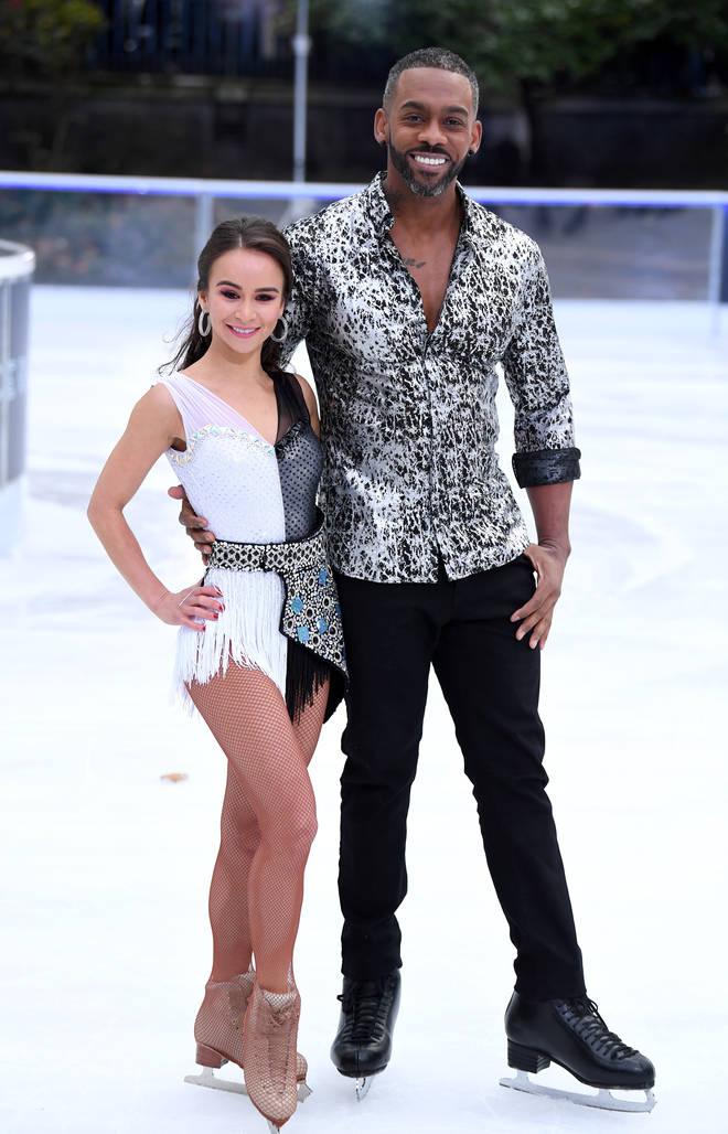 Richard Blackwood and his professional partner Carlotta Edwards