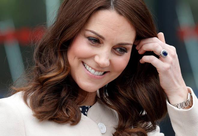 Kate Middleton wears three rings on her wedding finger