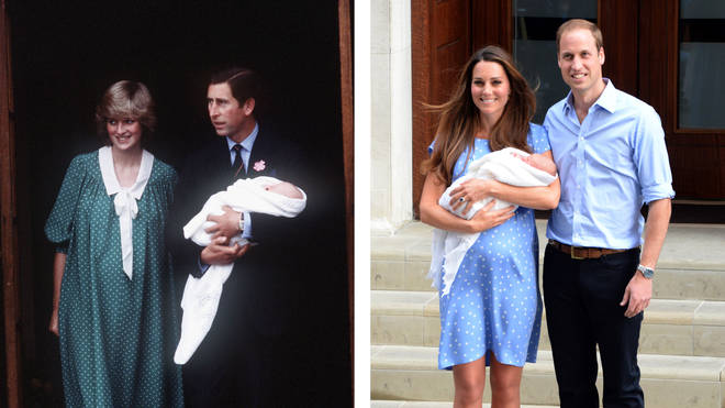 Princess Diana and Kate Middleton give birth at the Lindo Wing
