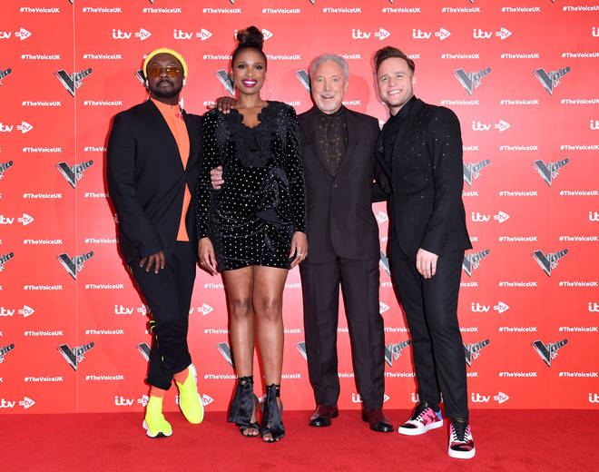 Jennifer Hudson, will.i.am, Tom Jones and Olly Murs at The Voice launch