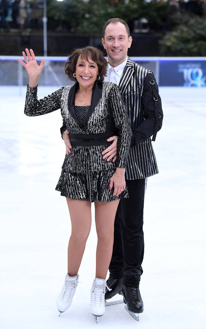 Didi Conn and Lukasz Rozyck at Dancing On Ice Photocall
