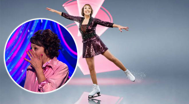 Didi Conn showed her emotions after her Dancing On Ice performance