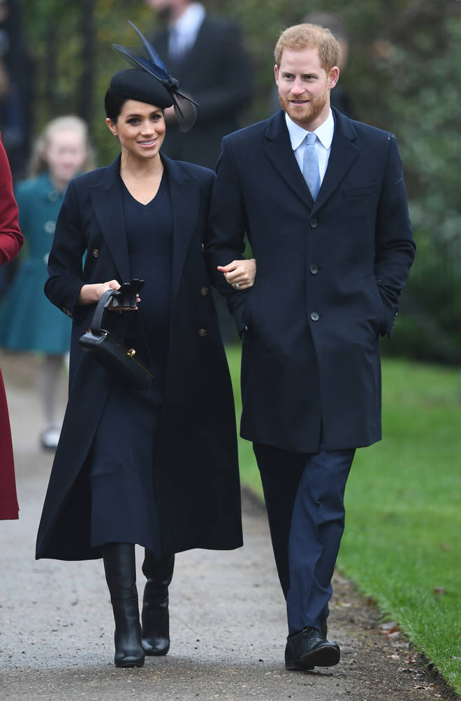 Meghan Markle and Prince Harry at Sandringham