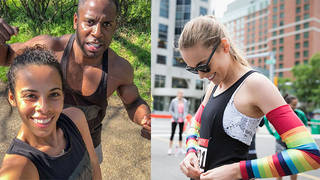 Peter Mac is a personal trainer and running coach and trained Rochelle Humes for the marathon