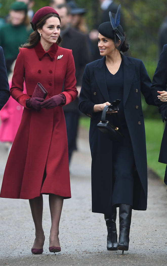 Meghan Markle and Kate Middleton arrived at Sandringham on Christmas Day