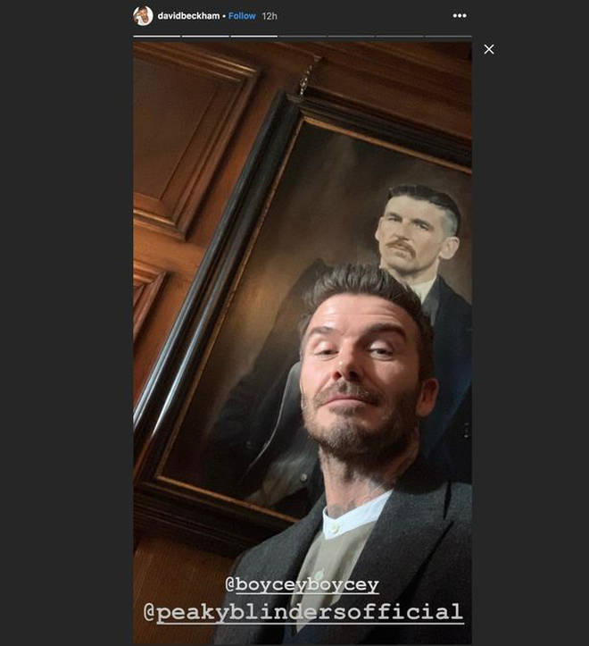 David Beckham shared these mysterious snaps on his Instagram story