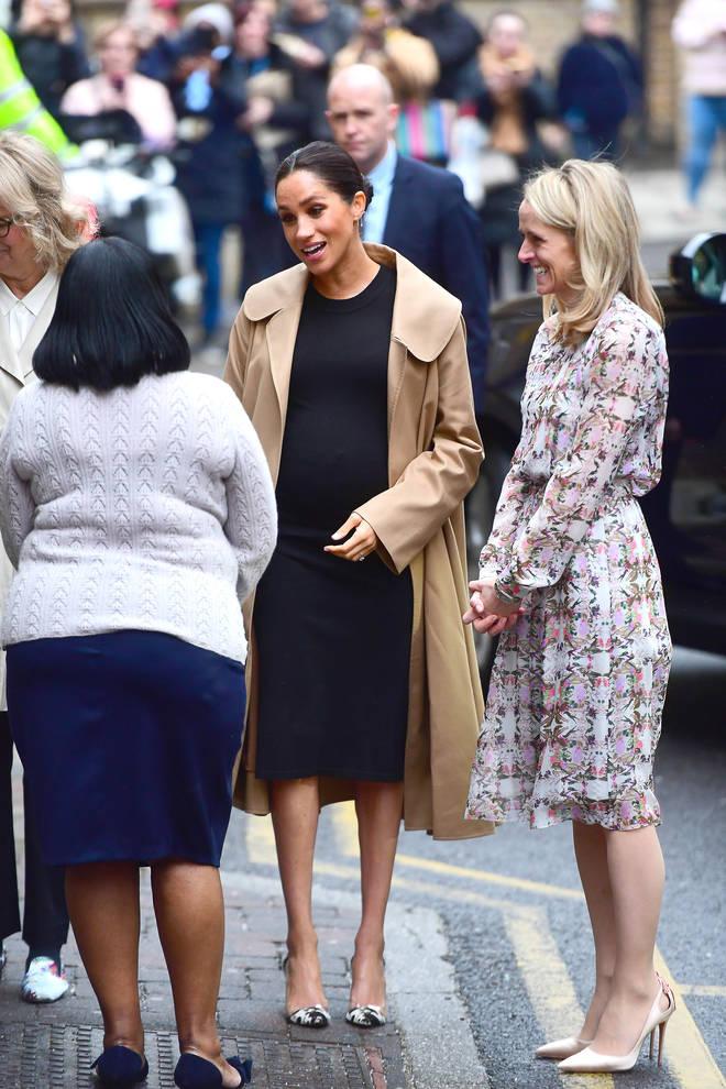 Meghan Markle arrives at Smart Works in London
