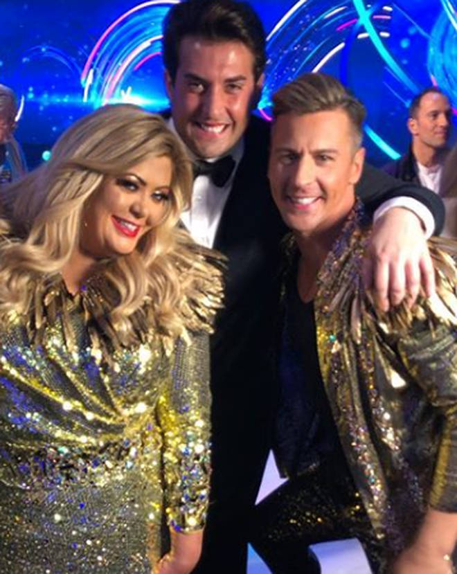 Gemma Collins and James Argent on Dancing On Ice