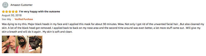 Commenters have warned that pulling off the face mask can be a painful experience