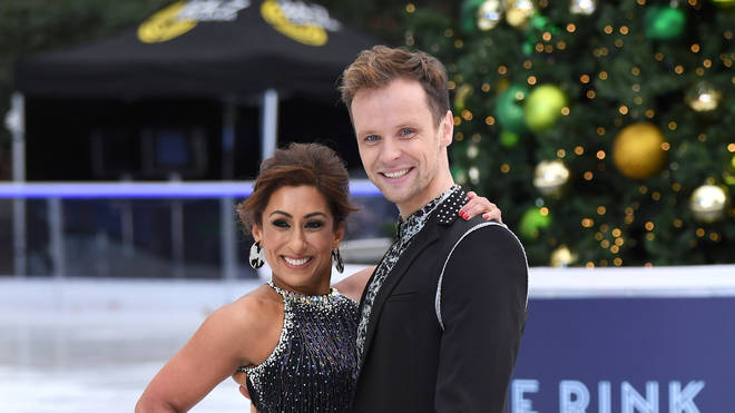Saira Khan and Mark Haretty on Dancing On Ice - Photocall