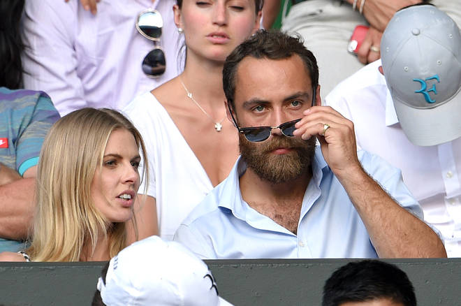 James Middleton and Donna Air at Wimbledon